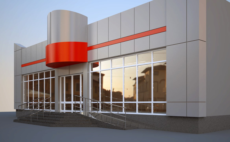Дизайн фасада магазина фото