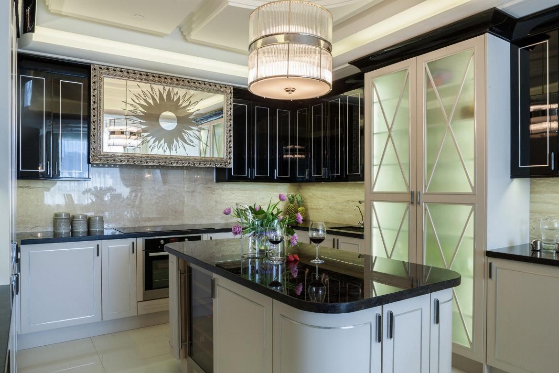 Дизайн-проект в стиле арт-деко интерьер кухни фото