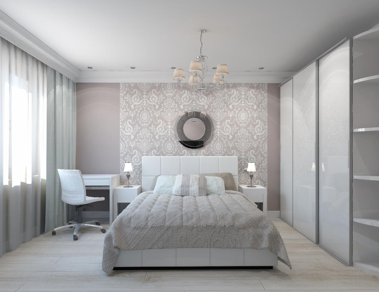 Дизайн-проект интерьера спальни фото
