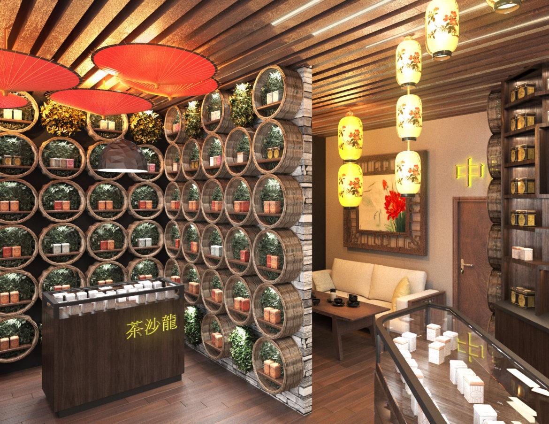 Красивый интерьер магазина чая фото